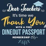 Teachers' Day Dineout Passport Membership